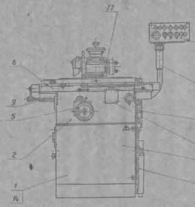 Станок универсально-заточной механизированный 3Д641Е