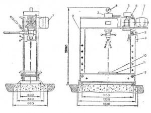 Пресс гидравлический Р337 (2135М1)