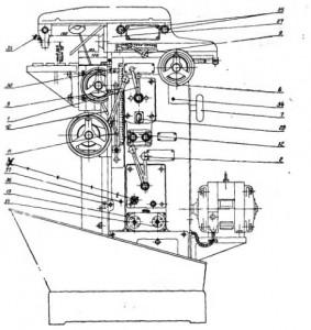 Станок универсально-фрезерный 6В75, 6В75П