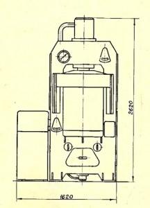 Пресс гидравлический для пластмасс 100тс П474А