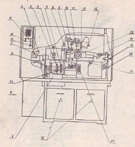 Автомат токарно-револьверный одношпиндельный прутковый 1В116, 1В116П